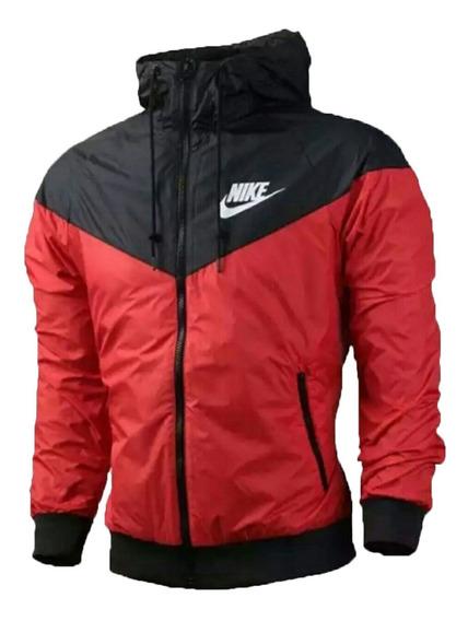 Jaqueta Corta Vento Vermelha Masculina Impermeável