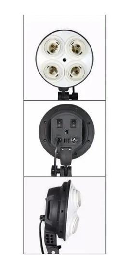 Socket E27 Quadruplo Iluminação Fotográfica