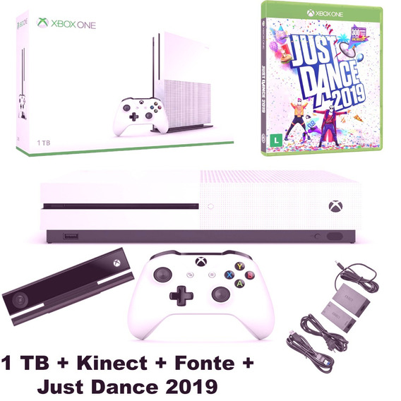 Xbox One S Dois Controles E Kinect - Games no Mercado Livre
