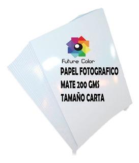1 Paquete Papel Fotográfico Mate Carta 200gr 50 Hojas Foto