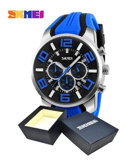 Relógio Masculino Esportivo Skmei Modelo 9128 Com Caixa