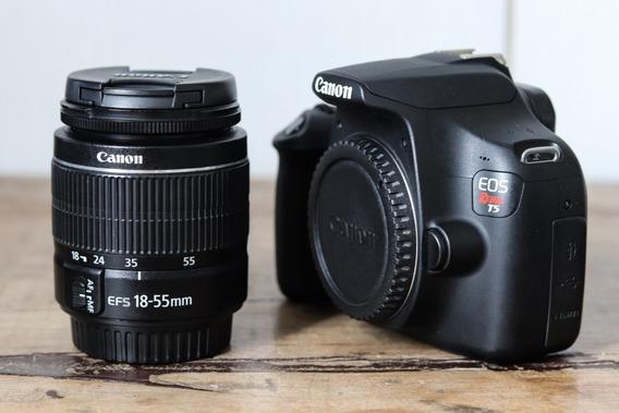 Câmera Canon T5 Rebel + Lente 18-55mm + 2 Baterias Originais