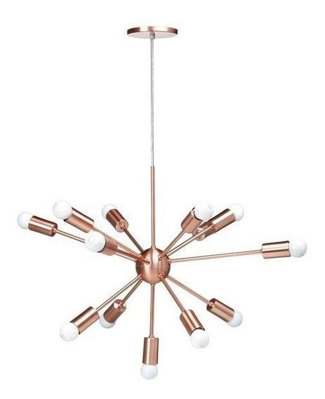 Lustre Pendente Moderno Sputnik Cobre