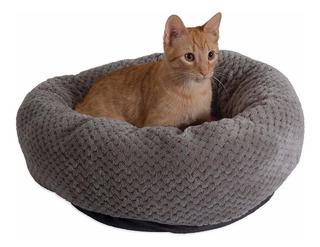 Jackson Galaxy Cama Para Gato Deluxe Donut Gris Rosa ...