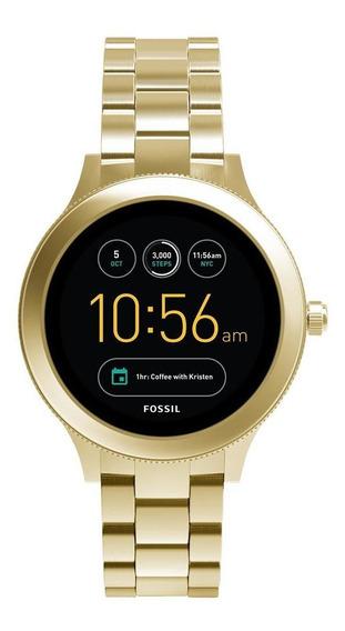 Smartwatch Fossil Q Feminino Dourado - Ftw6006/1di