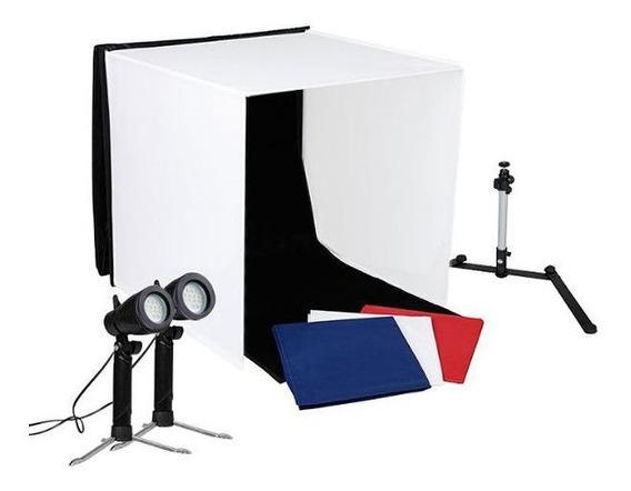 Mini Estúdio Fotográfico Portátil 60x60x60 - 2x5w Led