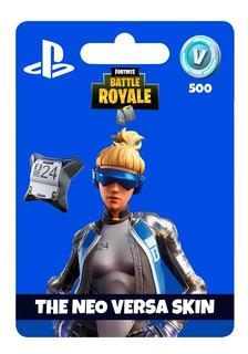 Tarjeta Fortnite Neo Versa Skin+ 500v Bucks Ps4 | Gamer24hs