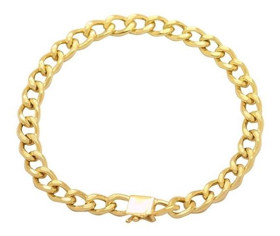 Pulseira Groumet Em Ouro 18k - Ov/1014