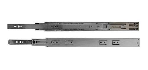 Corrediça Trilho Telesc. Soft Closing 500mm X 45mm Abraplac