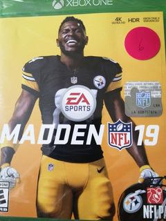 Videojuego Xbox One Madden 19