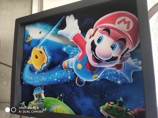 Cuadro Geek 3d Shadowbox Mario Bros Galaxy