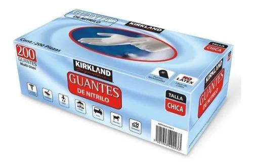 Imagen 1 de 3 de Caja Con 200 Guantes De Nitrilo Chicos Kirkland