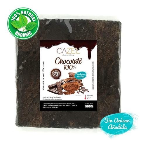 Chocolate 100% Cacao Amargo Oaxaca 500g En Tableta Natural