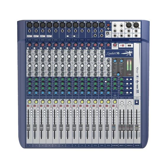 Mesa De Som Soundcraft Signature 16 Canais Mixer Usb Bivolt