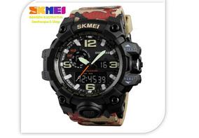 Relógio Camuflado Ou Preto Skmei 1155 S Shock