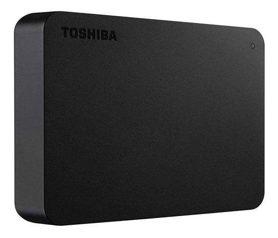 Hd Externo Portátil 4tb Toshiba Canvio Basics Usb 3.0 Preto