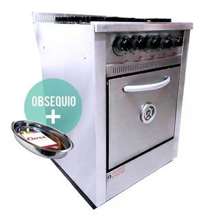 Cocina Industrial Fornax 4 Hornallas 60 Cm Rejilla Fundicion