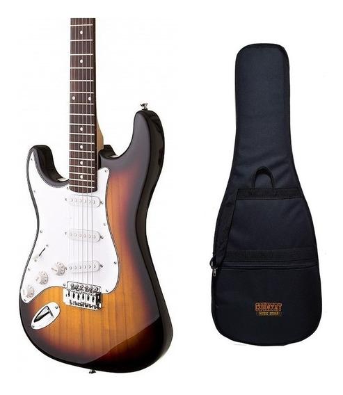 Guitarra Eléctrica Stratocaster Para Zurdo Field Con Funda