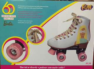 Patins Classico Barbie 60 Anos 4 Rodas 33-34 - Fun Bonellihq