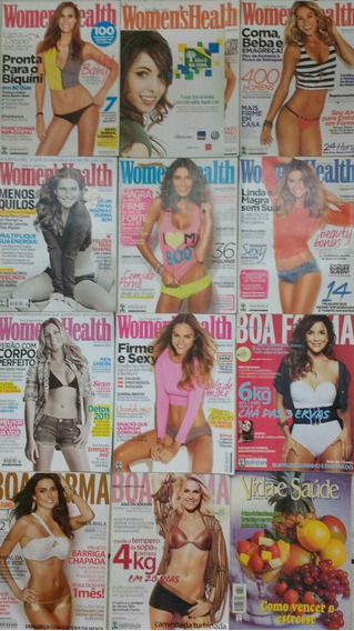 Kit C/ 14 Revistas Womens Health (8) Boa Forma (3) Outras(3)