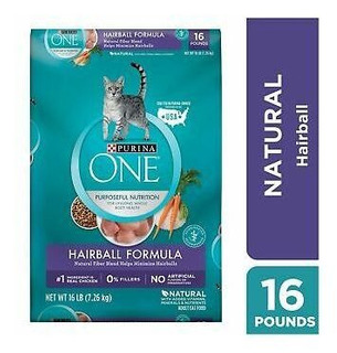 Purina One Hairball Formula Adult Dry Cat Food Envasado Est