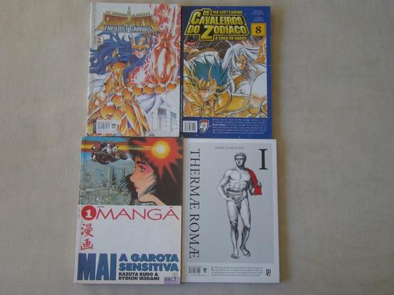 Lote 4 Livros / Hq - Cavaleiros Do Zodíaco E Outros