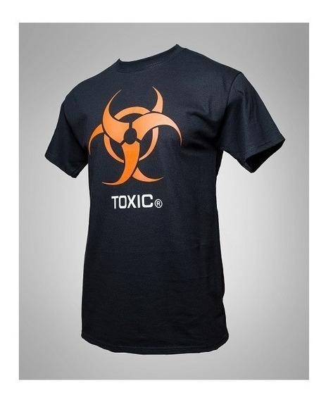 Playera Toxic Logo Tee Algodón 100% Negra T-shirt