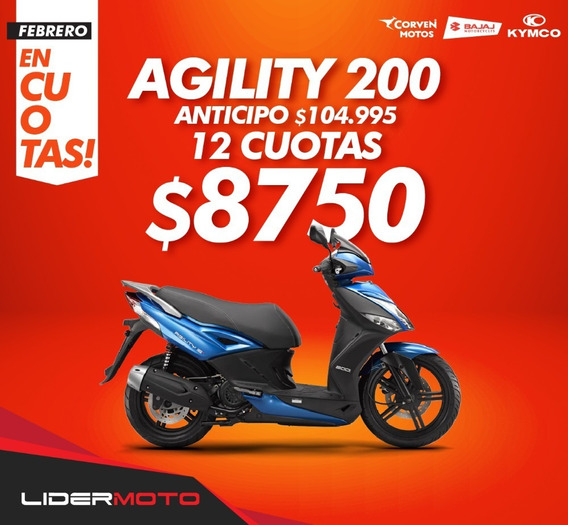Moto Scooter Kymco Agility City 200i - 0km - Lidermoto Lider