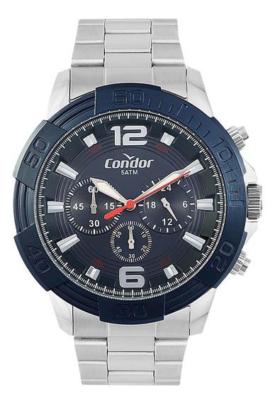 Relógio Condor Masculino Prateado Covd54ba/3a