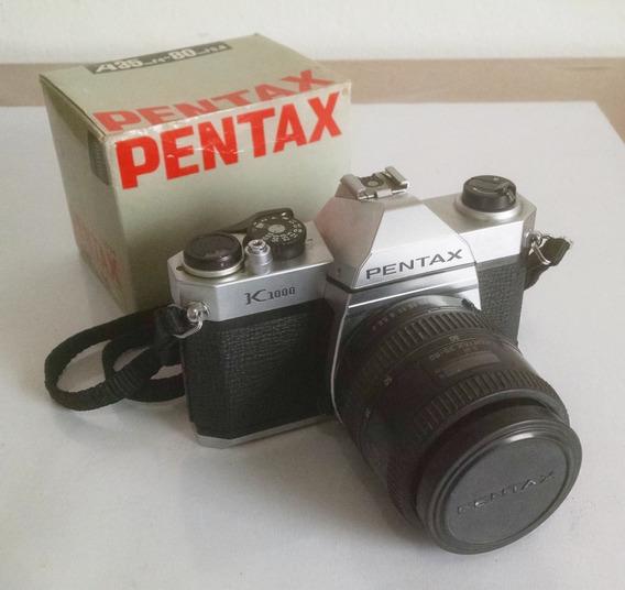 Kit Pentax K1000 + Objetiva Pentax 35-80 F4-5.6