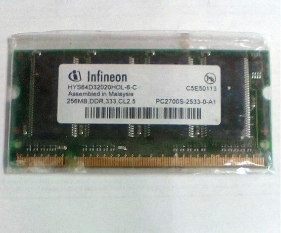 Memoria Ddr1 Para Portatil / 256mb / 333 / Pc2700 Para Lapto