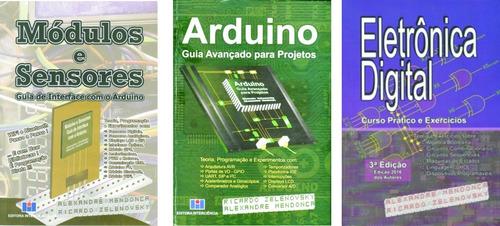 Imagem 1 de 8 de 3 Livros Arduino & Módulos/sensores & Eletr.dig.  15% Desc.