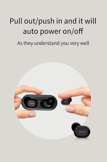 Novo Fone Qcy Qs1 T1c Mini Dual V5.0 3d Som Estéreo
