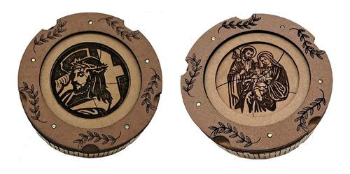 Imagem 1 de 4 de Porta-terço Duas Unidades Jesus E  Sagrada Família