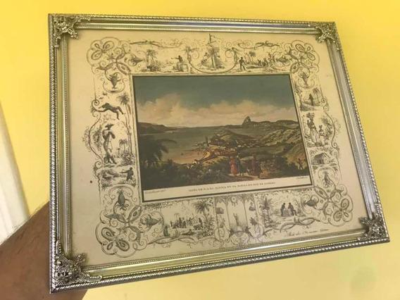 Porta Retrato Antigo Metal Niquelado Rio Antigo