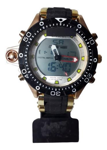 Relógio De Pulso Masculino Barato Dourado Social Luxo