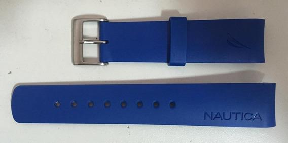 Pulseira Nautica 22mm Azul Claro