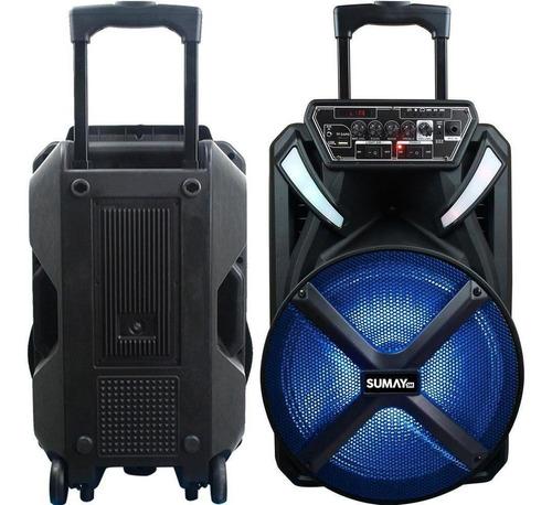 Caixa D/som Sumay Portátil Xprime 600w C/bluetooth Microfone