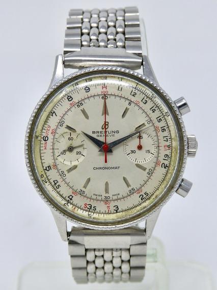 Reloj Vintage Breitling Chronomat 808 Con Cronógrafo Ca 1960