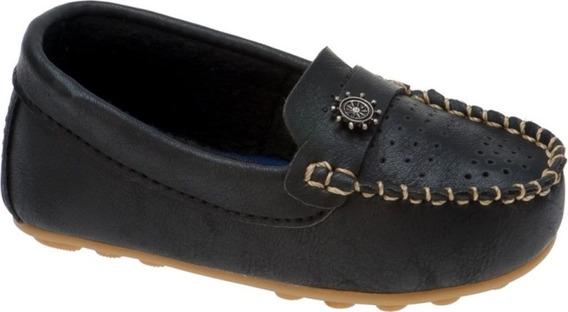 Mocassim Infantil Masculino Sapato Casual Menino Preto