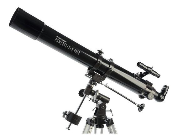 Telescópio Refrator Powerseeker 80eq Celestron Com Montagem Equatorial Germânica, Oculares E Barlow De 3x Original