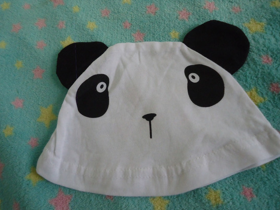 Touca Chapéu Bebê Panda Usado