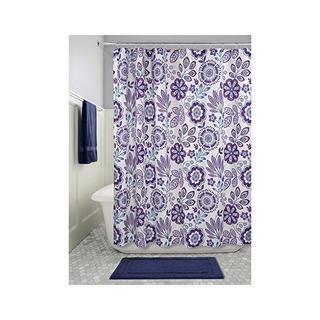 Interdesign Cortina De Ducha Tela Floral Batik