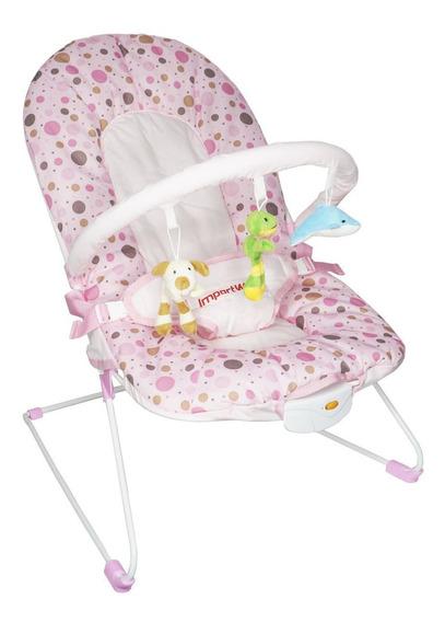 Cadeira Cadeirinha Bebê Descanso Vibratória Musical Menina