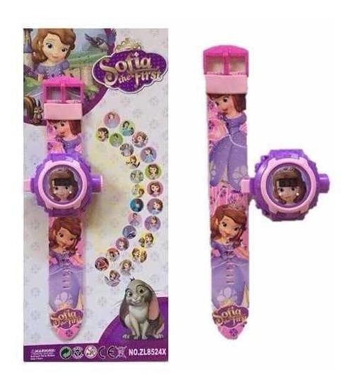 Relógio Infantil Com Projetor Imagem Sofia / Frozen