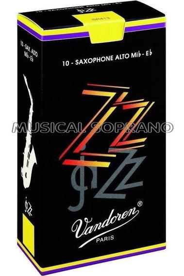 Palhetas Vandoren Zz Sax Alto (caixa Com 10) - Nº 2