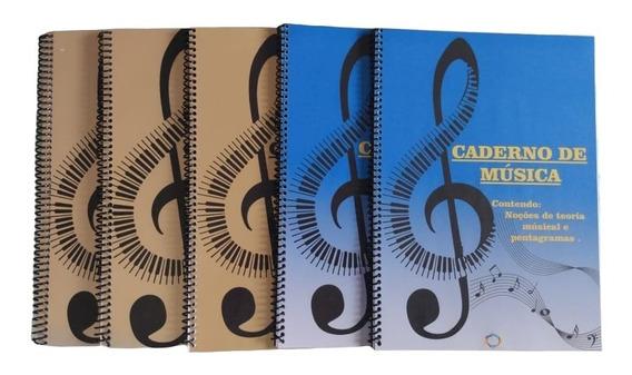 Caderno De Música Grande Com Pauta, E Teoria Musical