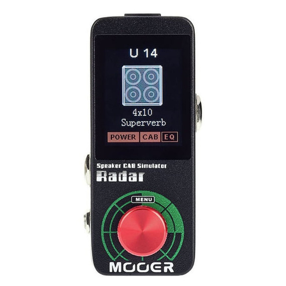 Pedal Simulador De Gabinete Mooer Radar Ms1 - Nf E Garantia