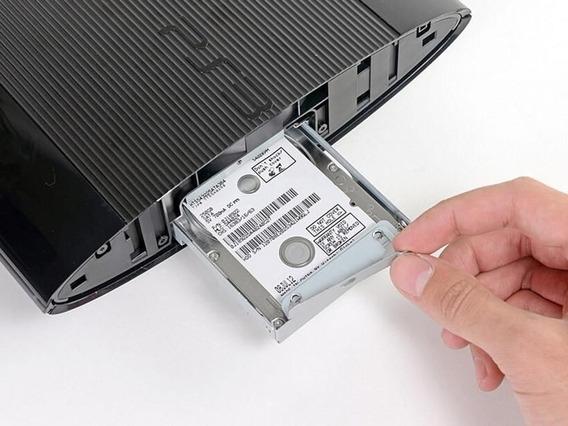 Kit Gaveta De Hd Playstation 3 Super Slim 12gb + Hd 500gb