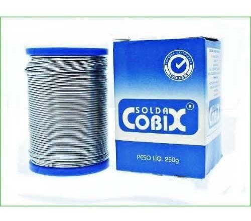 Solda Estanho Cobix 1.5mm 60x40 250g Com Fluxo .
